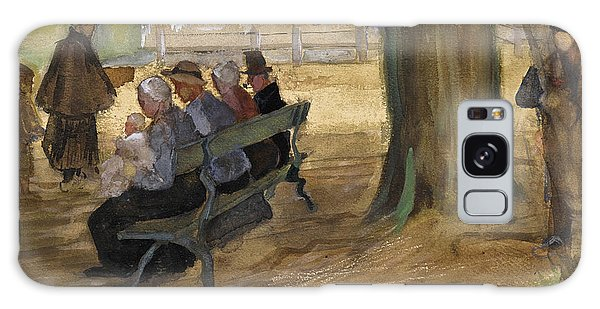 Impressionistic Galaxy Case - People Sitting On A Bench In Bezuidenhout. The Hague by Vincent van Gogh