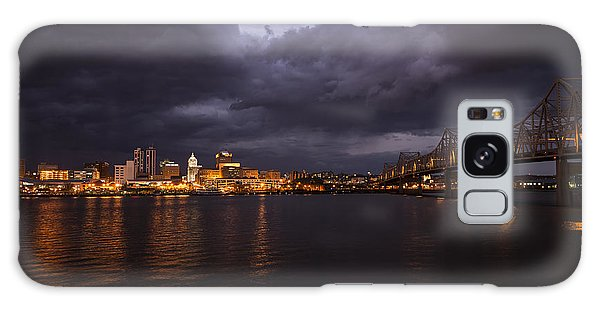 Peoria Stormy Cityscape Galaxy Case by Andrea Silies