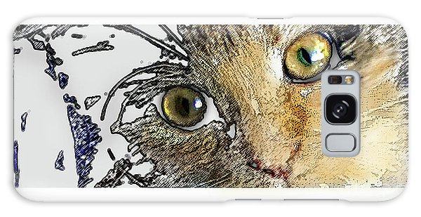 Pepper Eyes Galaxy Case by Deborah Nakano