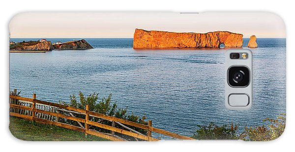 Galaxy Case featuring the photograph Perce Rock At Sunset by Elena Elisseeva