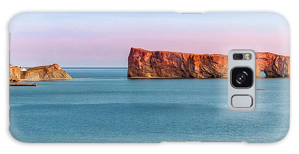 Galaxy Case featuring the photograph Perce Rock Panorama At Sunset by Elena Elisseeva
