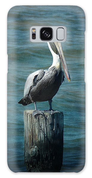 Perched Pelican Galaxy Case