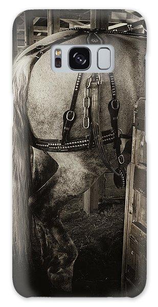 Percheron Draft Horse Galaxy Case by Theresa Tahara