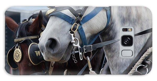 Percheron Horses Galaxy Case by Theresa Tahara