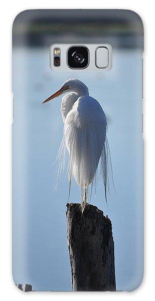 Perching Egret Galaxy Case