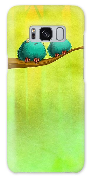 Perching Fluffs Galaxy Case