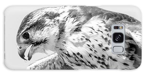 Peregrine Falcon In Black And White Galaxy Case
