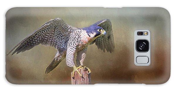 Peregrine Falcon Taking Flight Galaxy Case