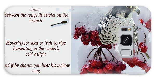 Song Birds Galaxy Case - Peregrine Song by Lisa DiFruscio