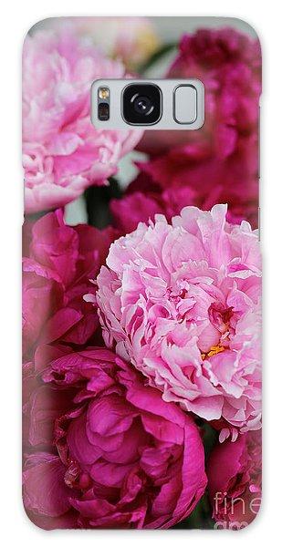 Vase Of Flowers Galaxy Case - Perfect Peonies by Carol Groenen