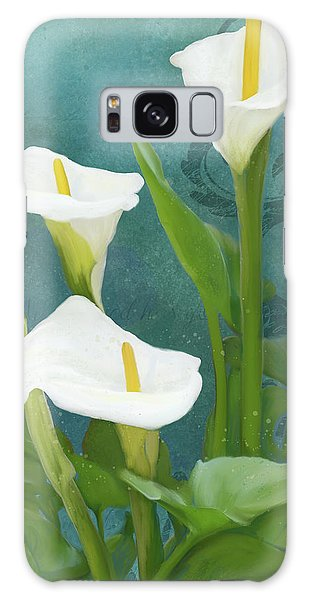 Galaxy Case featuring the painting Perfection - Calla Lily Trio by Audrey Jeanne Roberts