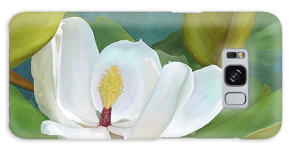 Galaxy Case featuring the painting Perfection - Magnolia Blossom Floral by Audrey Jeanne Roberts