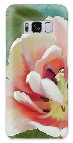 Galaxy Case featuring the painting Perfection - Single Tulip Blossom by Audrey Jeanne Roberts
