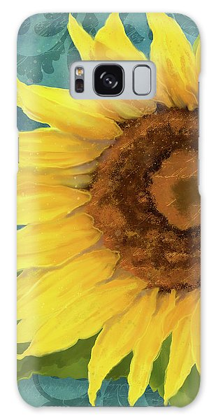 Galaxy Case featuring the painting Perfection - Russian Mammoth Sunflower by Audrey Jeanne Roberts