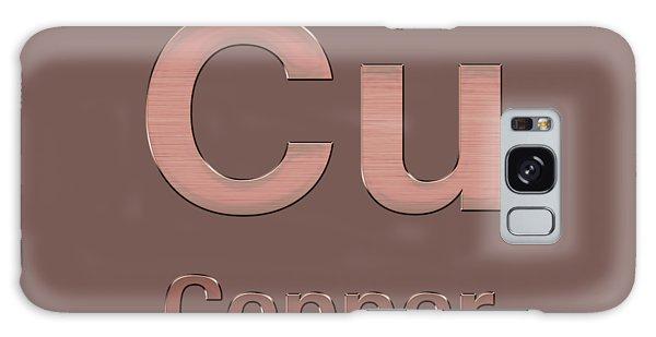 Periodic Table Of Elements - Copper - Cu - Copper On Copper Galaxy Case
