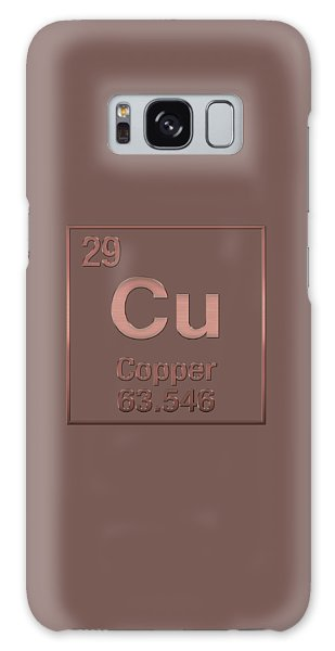 Periodic Table Of Elements - Copper - Cu - Copper On Copper Galaxy Case
