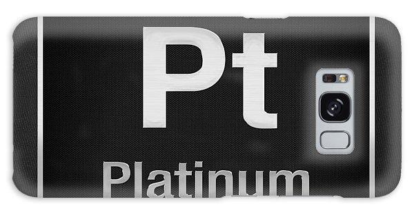 Periodic Table Of Elements - Platinum - Pt - Platinum On Black Galaxy Case