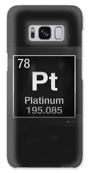 Periodic Table Of Elements - Platinum - Pt - Platinum On Black Galaxy Case