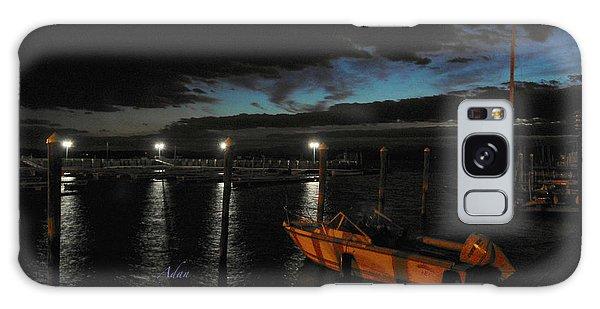 Perkins Pier Sunset Galaxy Case