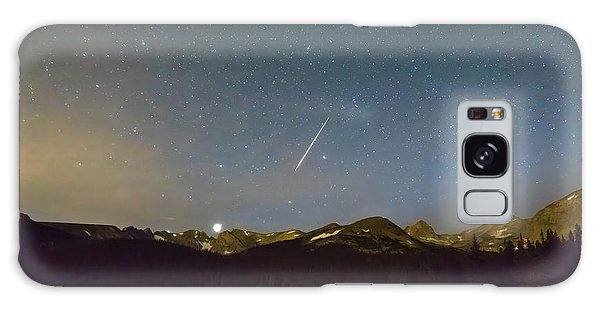 Galaxy Case featuring the photograph Perseid Meteor Shower Indian Peaks by James BO Insogna