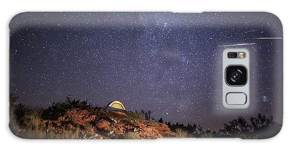 Perseids Over Caprock Canyons Galaxy Case