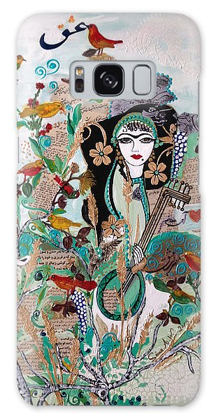 Persian Painting # 2 Galaxy Case by Sima Amid Wewetzer