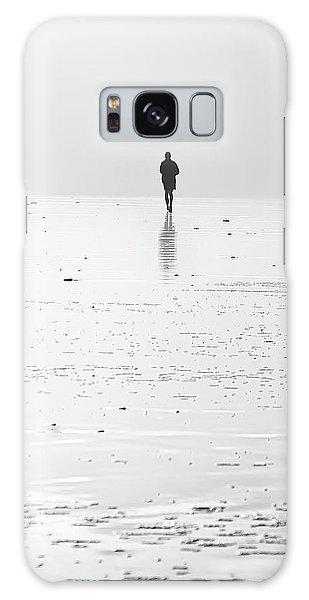 Person Running On Beach Galaxy Case