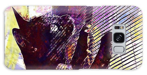 Galaxy Case featuring the digital art Pet Cat Look Kitten  by PixBreak Art