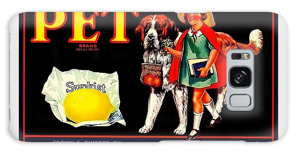 Pet Saint Bernard 1920s California Sunkist Lemons Galaxy Case by Peter Gumaer Ogden