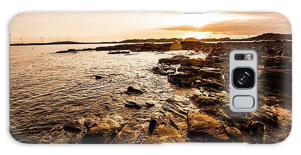 Beautiful Sunrise Galaxy Case - Petal Point Ocean Sunrise by Jorgo Photography - Wall Art Gallery
