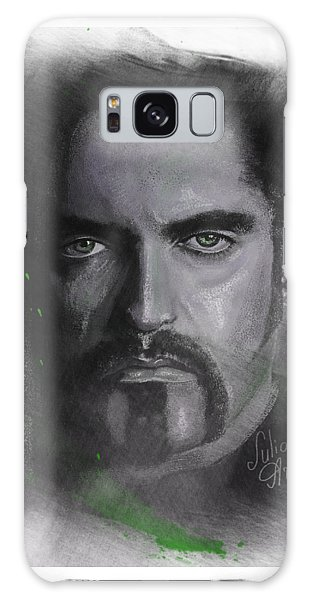 Galaxy Case featuring the drawing Peter Steele, Type O Negative by Julia Art