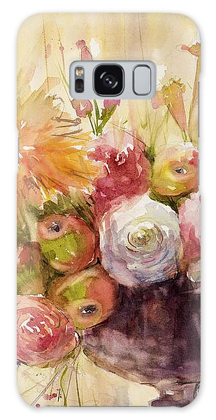 Petite Apples In Floral Galaxy Case by Judith Levins