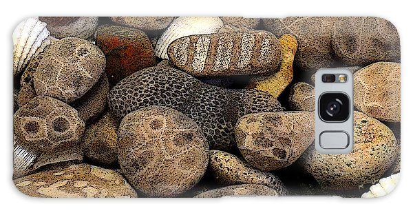 Petoskey Stones With Shells L Galaxy Case