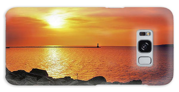 Petoskey Sunset Galaxy Case