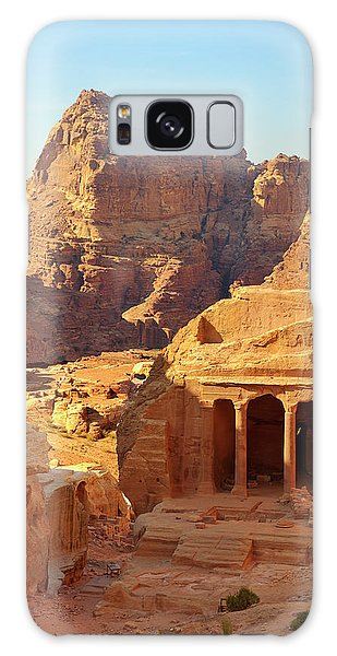 Petra Buildings, Pond And Gardens Complex Galaxy Case by Nicola Nobile