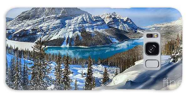 Peyto Lake Winter Panorama Galaxy Case