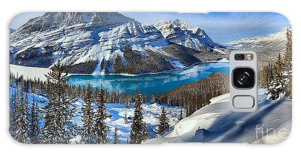 Peyto Lake Winter Panorama Galaxy Case