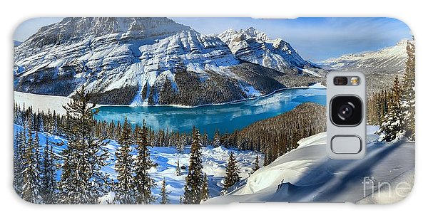 Peyto Lake Winter Panorama Galaxy Case by Adam Jewell