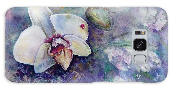 Phalaenopsis Orchid With Hyacinth Background Galaxy Case