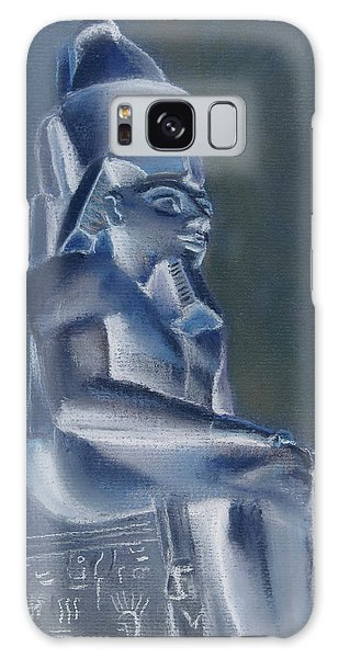 Galaxy Case featuring the mixed media Pharaoh In Blue by Elizabeth Lock