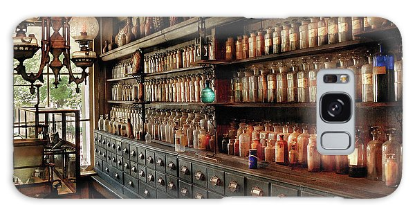 Pharmacy - So Many Drawers And Bottles Galaxy Case by Mike Savad