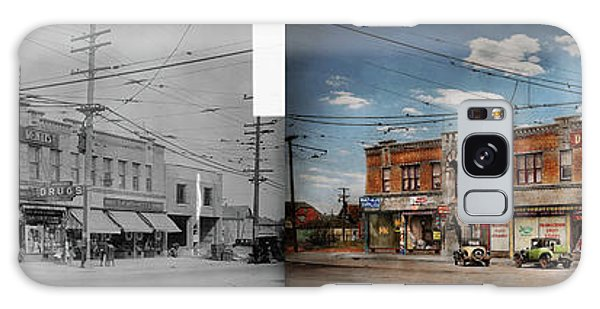 Galaxy Case featuring the photograph Pharmacy - The Corner Drugstore 1910 - Side By Side by Mike Savad