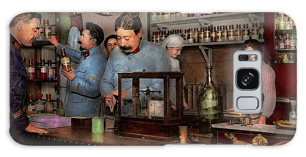 Galaxy Case featuring the photograph Pharmacy - The Dispensing Chemist 1918 by Mike Savad