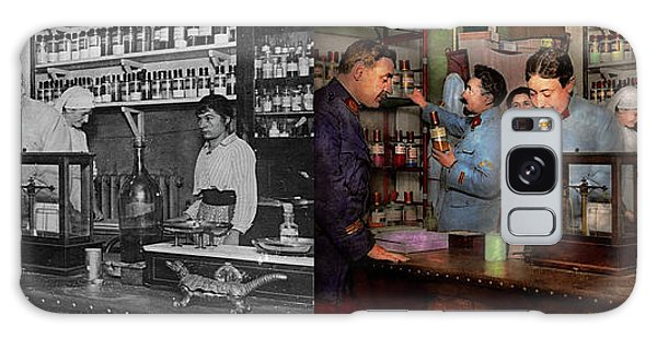 Galaxy Case featuring the photograph Pharmacy - The Dispensing Chemist 1918 - Side By Side by Mike Savad