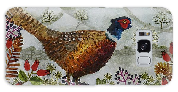Pheasant And Snowy Hillside Galaxy S8 Case