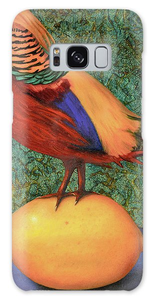 Pheasant On A Lemon Galaxy Case by Leah Saulnier The Painting Maniac