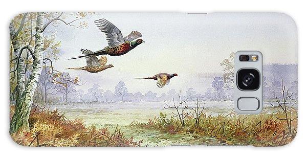 Pheasants In Flight  Galaxy Case