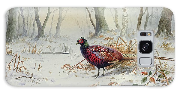 Pheasants In Snow Galaxy S8 Case