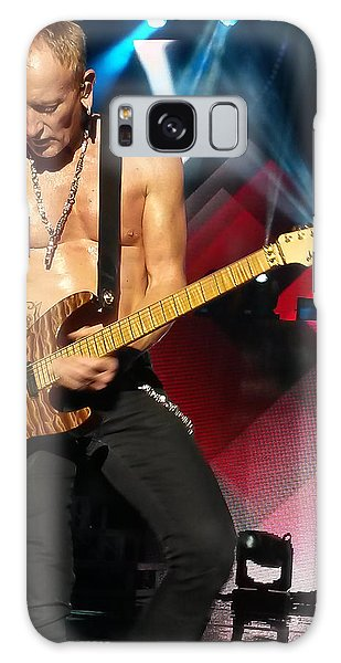 Phil Collen Of Def Leppard 2 Galaxy Case by David Patterson