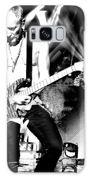 Phil Collen Of Def Leppard 4 Galaxy Case by David Patterson